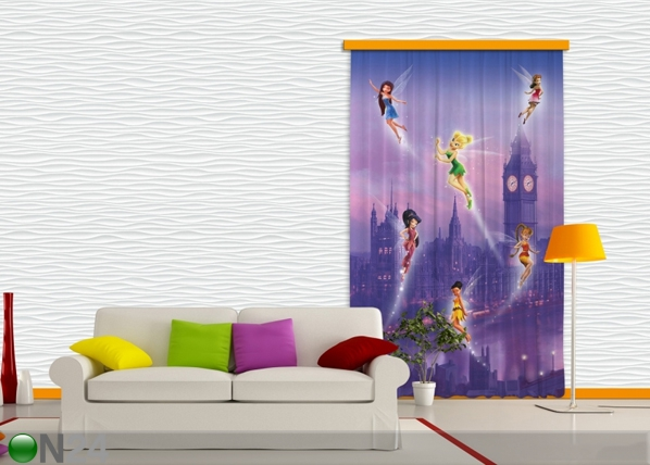 Pimentävä fotoverho DISNEY FAIRIES IN LONDON I 140x245 cm ED-87831