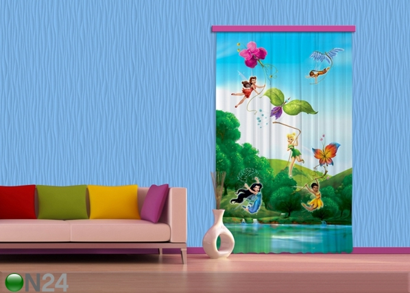 Pimentävä fotoverho DISNEY FAIRIES WITH RAINBOW I 140x245 cm ED-87832