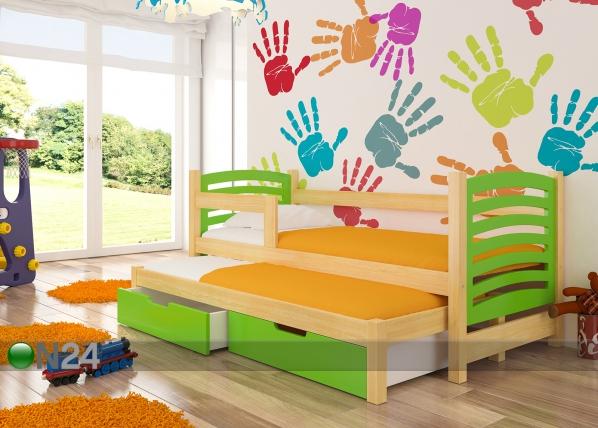 Lasten sänkysarja 2-le 75x180 cm