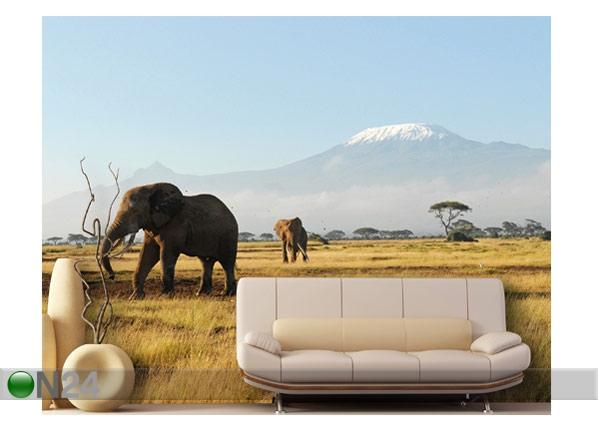 Kuvatapetti KILIMANJARO ELEPHANTS 400x280 cm