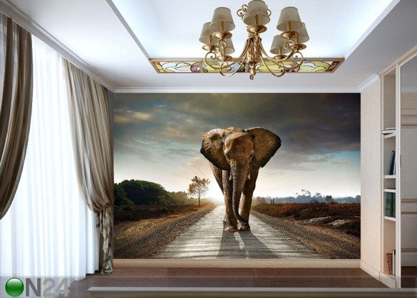 Fleece-kuvatapetti BIG ELEPHANT 360x270 cm