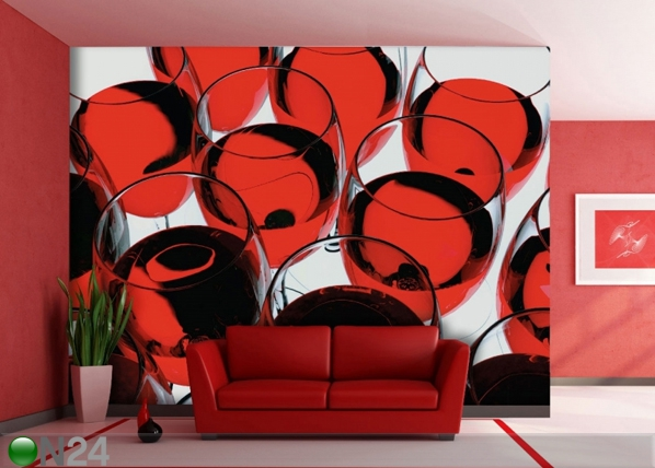 Fleece-kuvatapetti GLASS OF WINE 360x270 cm ED-90705