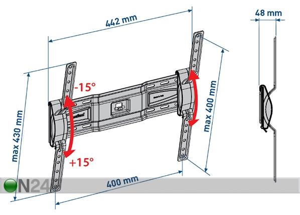 TV-seinäteline SlimStyle 400 ST musta