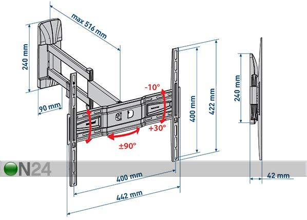 TV-seinäteline SlimStyle 400 SDR musta