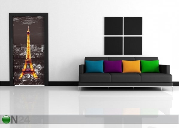 Fleece kuvatapetti EIFFEL TOWER AT NIGHT 90x202 cm ED-91443