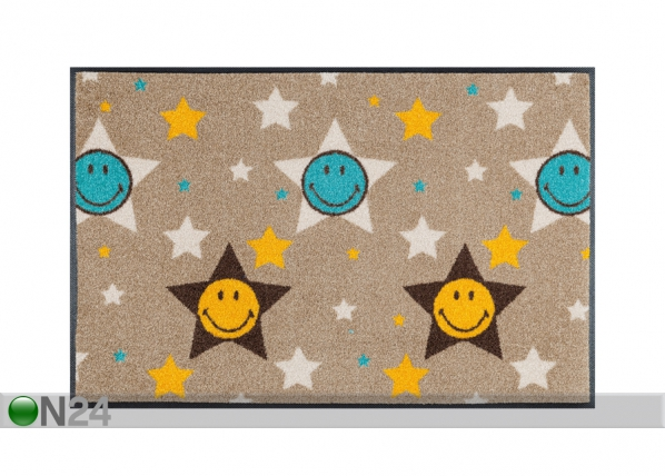 Matto SMILEY STARS 50x75 cm A5-91530