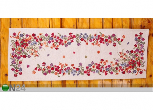 Globeliinikangas pöytäliina LEPPÄKERTUT 36x100 cm