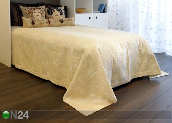 Dekoratiivikankainen päiväpeitto COMO LINO 240x240 cm