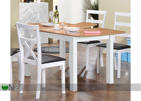 Jatkettava ruokapöytä BIRMINGHAM 120/150×90 cm