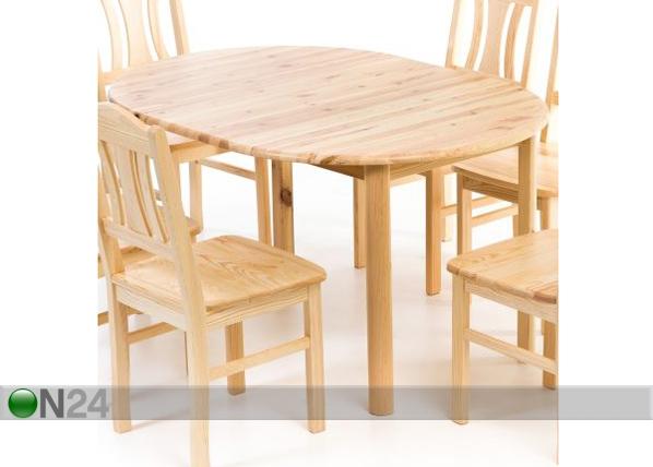 Jatkettava ruokapöytä, mänty 100×100-140 cm