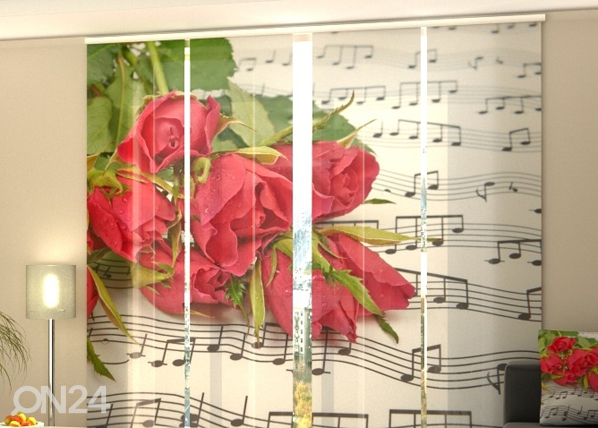 Verho paneeliverho ROSES AND NOTES 240x240 cm ED-97617