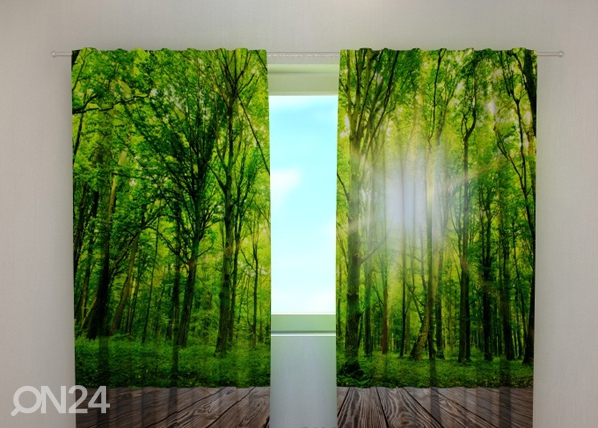 Puolipimentävä verho FOREST AT THE DOORSTEP 240x220 cm ED-97974
