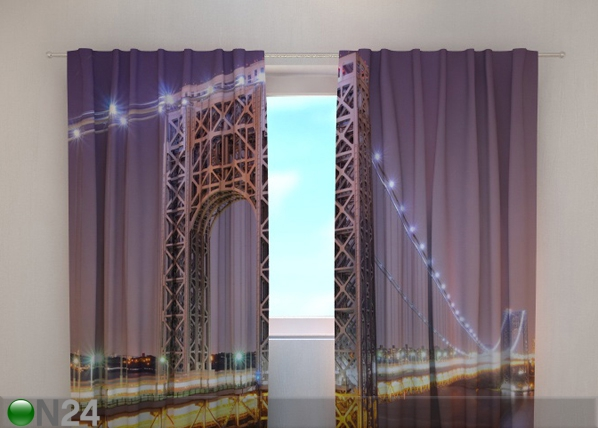 Puolipimentävä verho G.WASHINGTON BRIDGE 220x240 cm ED-97997