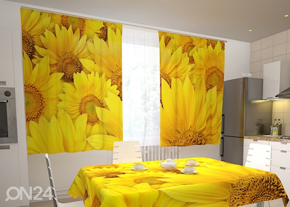 Läpinäkyvä verho SUNFLOWERS IN THE KITCHEN 200x120 cm ED-98327