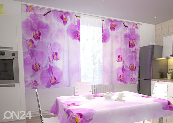 Pimentävä verho KITCHEN IN ORCHIDS 200x120 cm ED-98351