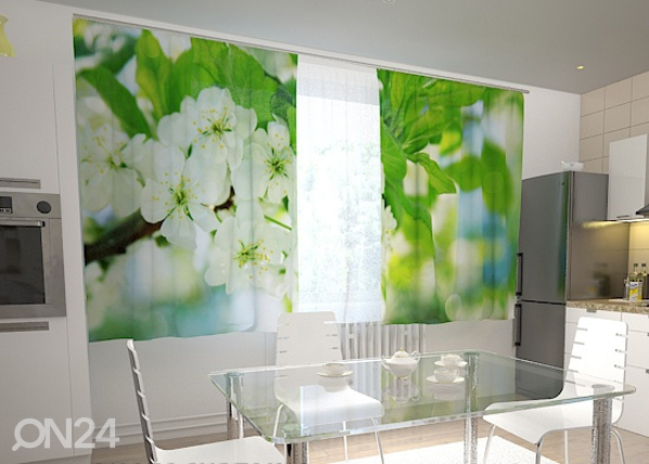 Läpinäkyvä verho SPRING FLOWERS FOR THE KITCHEN 200x120 cm ED-98451