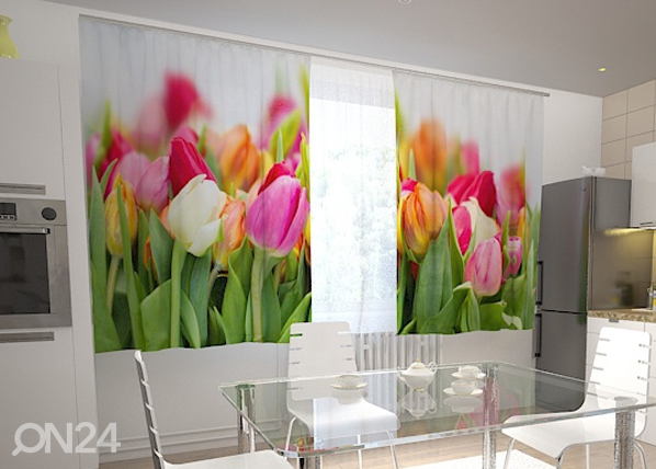 Pimentävä verho TULIPS IN THE KITCHEN 200x120 cm ED-98570