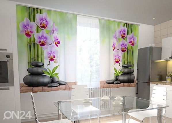 Pimentävä verho ORCHIDS AND STONES IN THE KITCHEN 200x120 cm ED-98598