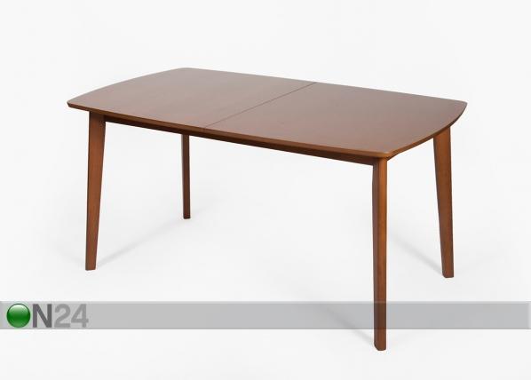Jatkettava ruokapöytä BARI 90x150-194 cm, pähkinä