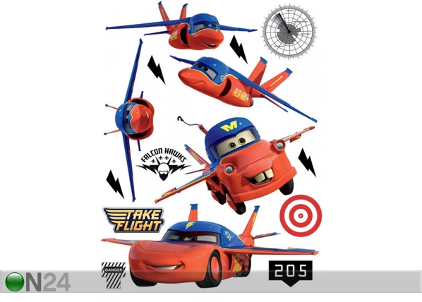 Seinätarra DISNEY CARS FLIES 42,5x65 cm ED-98667