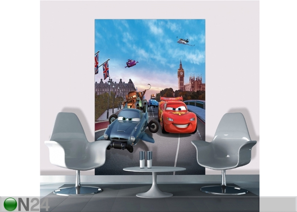 Fleece kuvatapetti DISNEY CARS IN LONDON 180x202 cm ED-99071