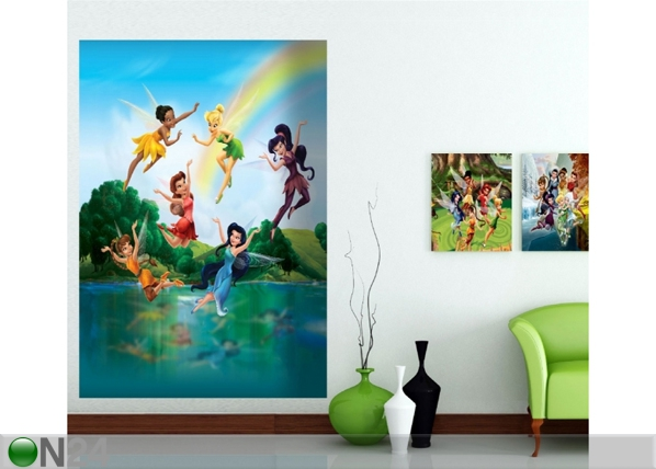 Fleece kuvatapetti DISNEY FAIRIES IN THE RAINBOW 180x202 cm ED-99087