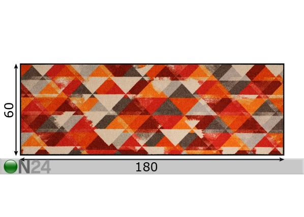 Matto PRISMA RED A5 99494  ON24 Sisustustavaratalo