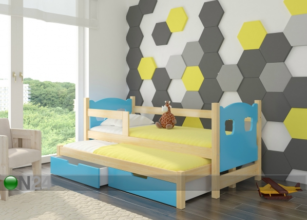 Lasten sänkysarja 2-lle 75x180 cm