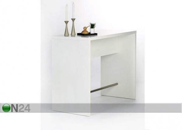 Baaripöytä 120x60 cm, valkoinen