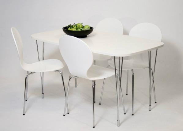 Ruokapöytä 138x80 cm, valkoinen